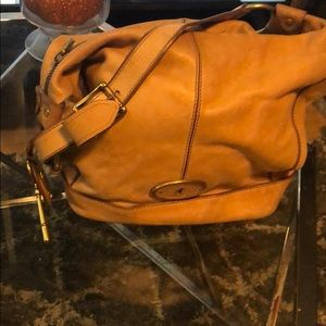 Large Leather Fossil Handbag duffle